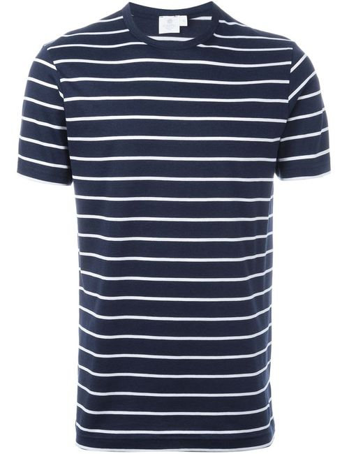 Sunspel | Мужское Синий Striped T-Shirt
