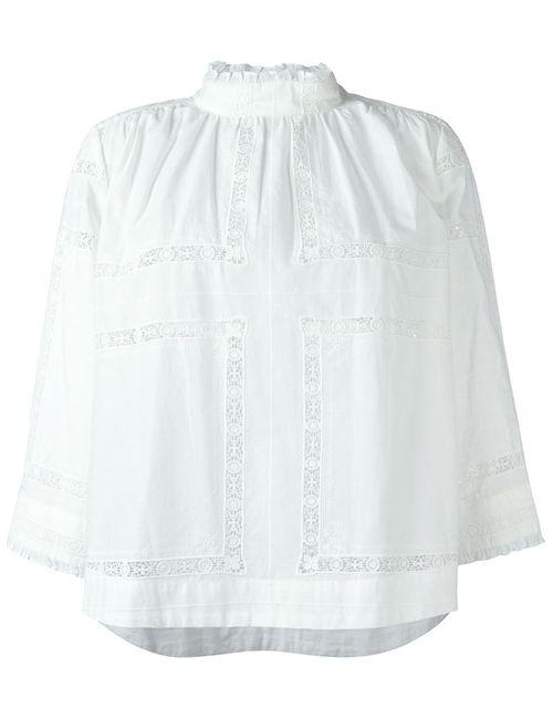 Sea | Женская Белая Блузка С Длинными Рукавами