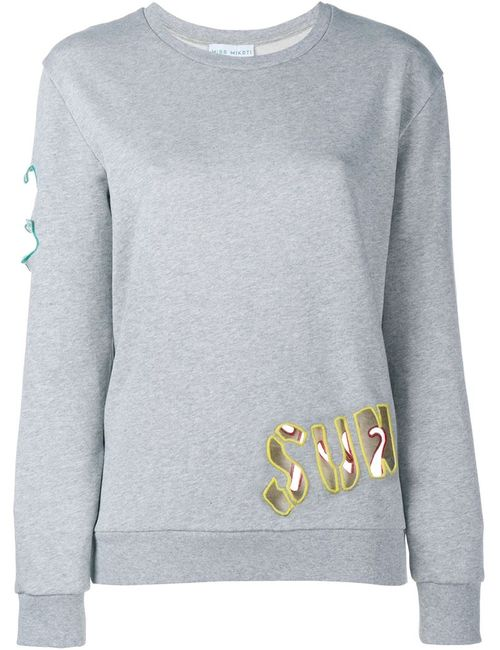 Mira Mikati | Женское Серый Cutout Embroidered Sweatshirt