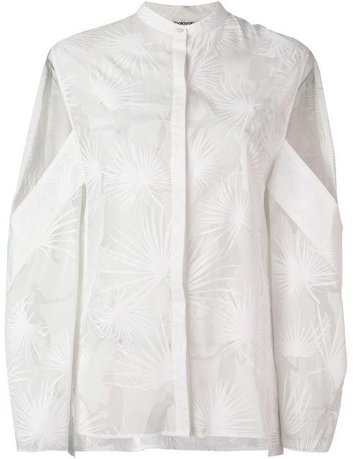 Chalayan | Женская Белая Рубашка Dancing Palms С Вырезными Деталями
