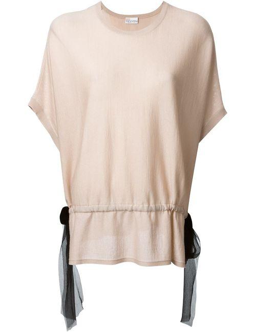 Red Valentino | Женская Розовая Блузка С Контрастным Поясом