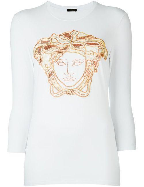 Versace | Женская Красная Футболка Medusa