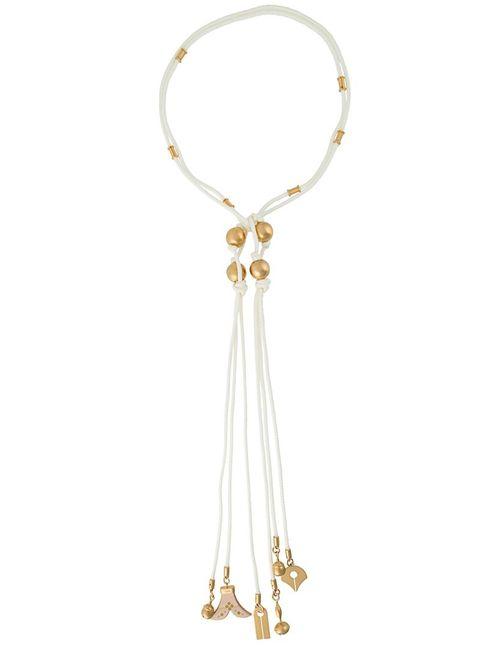 Chloe | Женское Белое Веревочное Ожерелье Janis