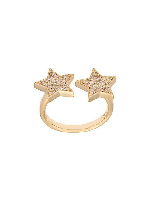 Alinka | Женское Серебристый Stasia Diamond Double Star Ring