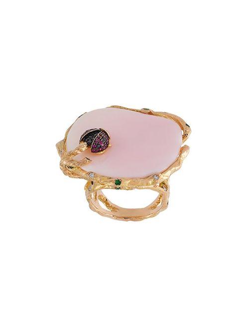 Christina Debs | Женское Серебристый Ladybird Diamond Ring