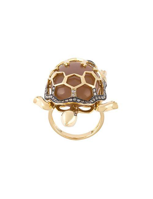 Christina Debs | Женское Серебристый Turtle Diamond Ring