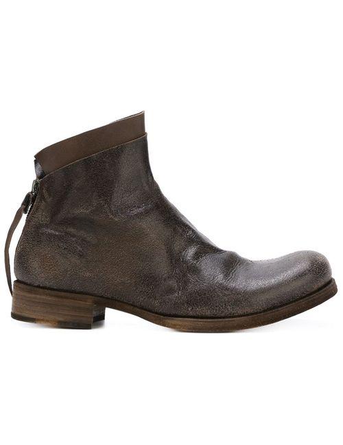 MA+ | Мужские Коричневые Ботинки С Потертой Отделкой