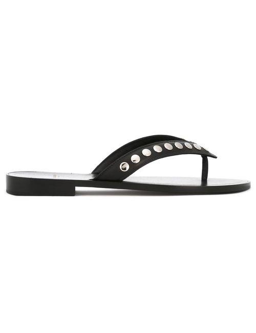 Saint Laurent | Женское Чёрный Studded Flip-Flops