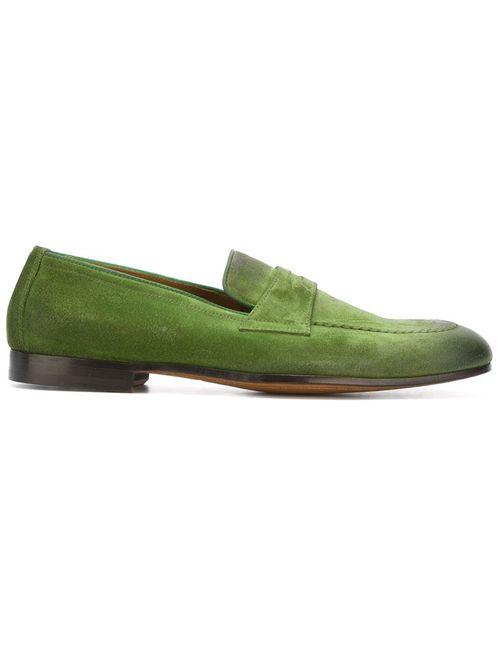 Doucal's | Мужские Зелёные Классические Лоферы-Слипон