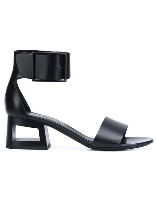 Vic Matie' | Женское Чёрный Vic Matie Hollow Chunky Heel Sandals