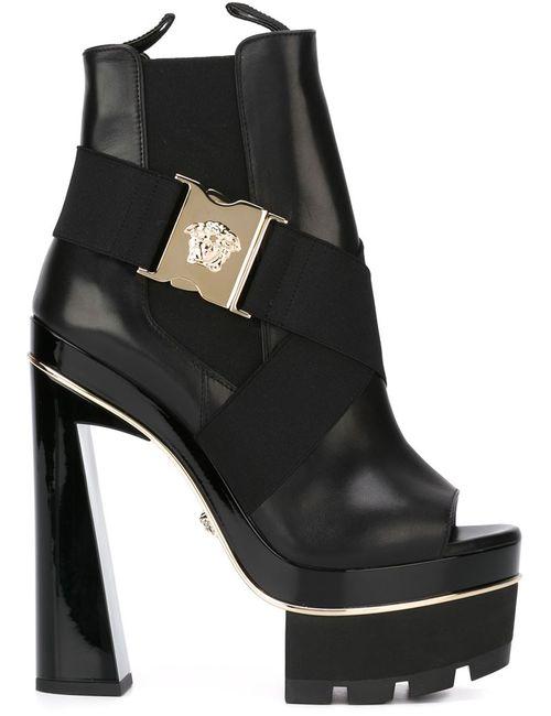 Versace | Женские Чёрные Ботильоны На Платформе Medusa