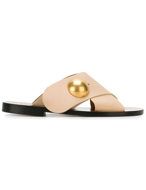 Chloe | Женское Nude & Neutrals Chloé Sphere Detail Flat Sandals