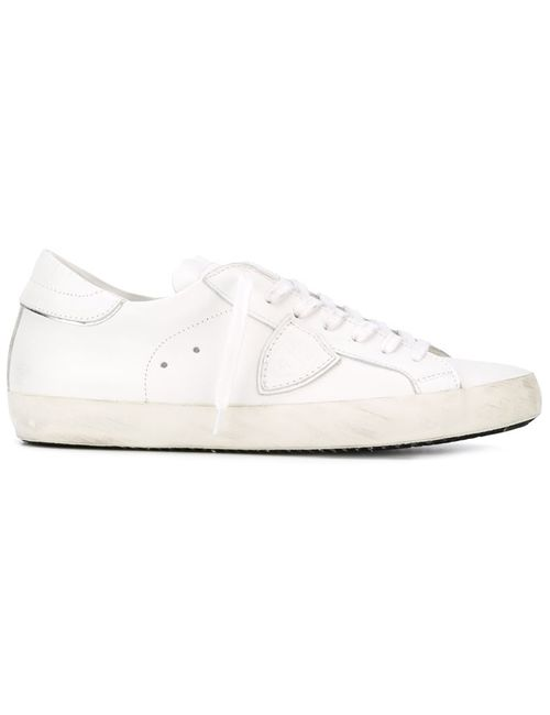 Philippe Model | Мужское Белый Low Top Monochrome Sneakers