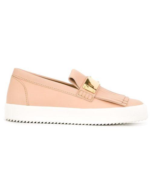 Giuseppe Zanotti Design | Женское Розовый Fringed Slip On Sneakers