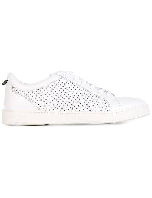 Kiton   Мужское Белый Perforated Sneakers