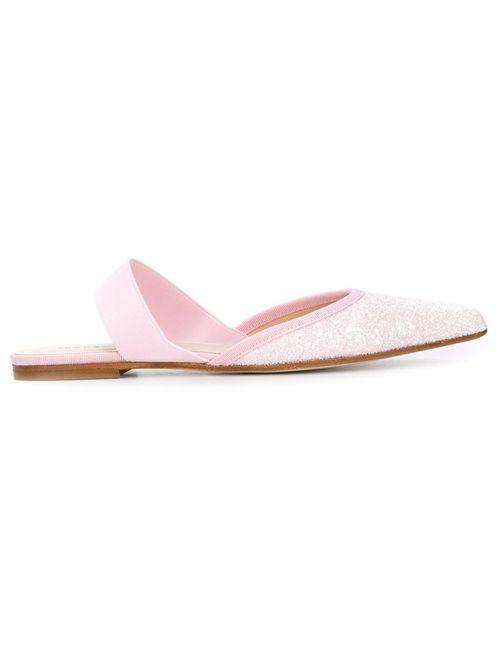 Anna Baiguera | Женское Розовый Glitter Open Back Ballerina Shoes