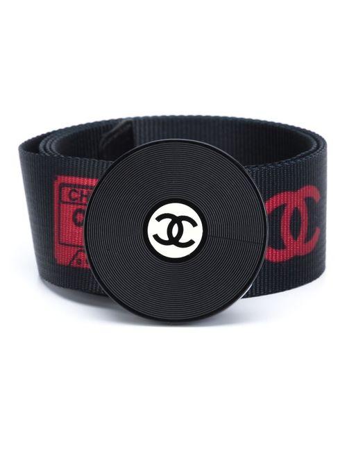 Chanel Vintage | Женский Чёрный Ремень С Пряжкой В Виде Виниловой Пластинки