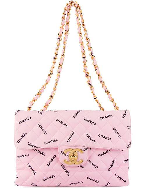 Chanel Vintage | Женская Розовая Стеганая Сумка На Плечо С Логотипом