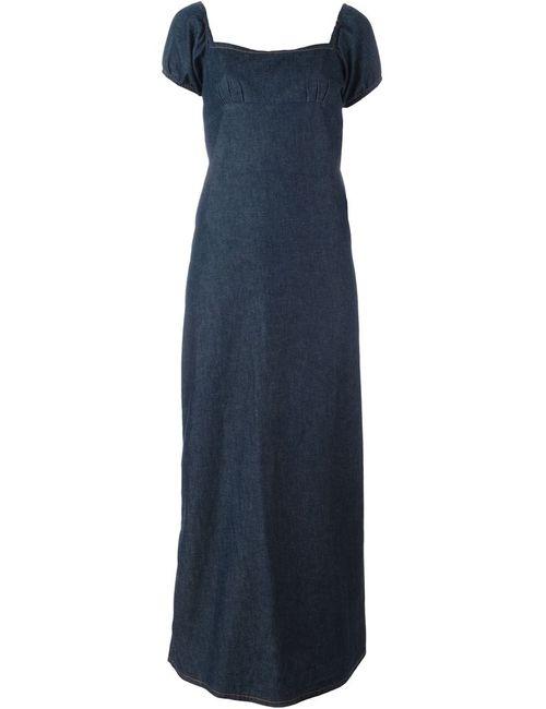 WALTER VAN BEIRENDONCK VINTAGE | Женское Синее Длинное Джинсовое Платье