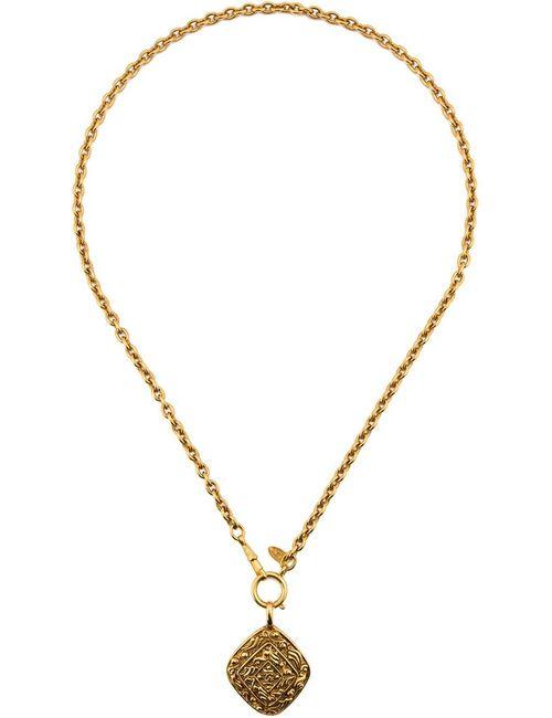 Chanel Vintage | Женское Желтый Embossed Diamond Shape Pendant