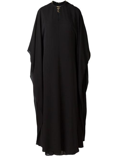 Valentino | Женское Черный Платье С Декорированной Горловиной