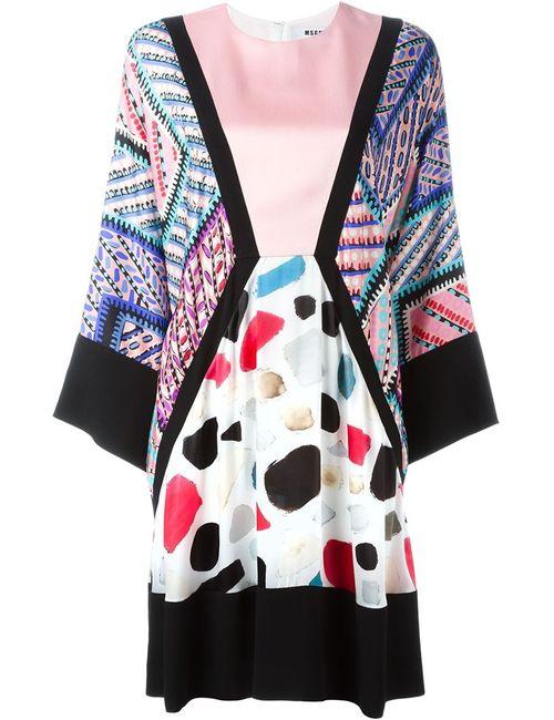 MSGM | Женское Розовый Kimono Sleeve Dress