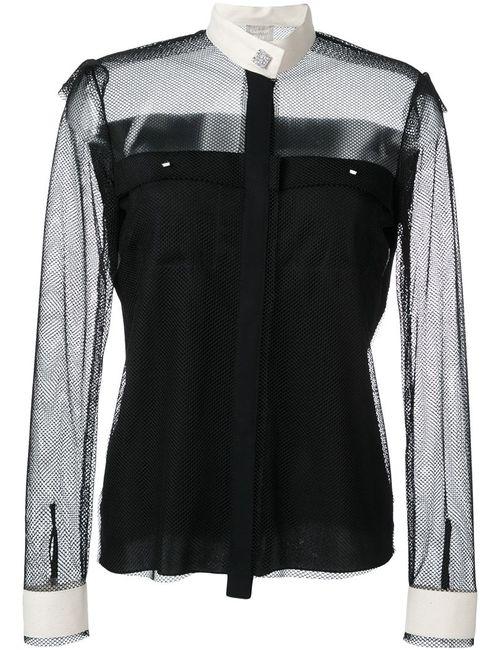 Lanvin | Женская Чёрная Рубашка С Контрастным Воротником