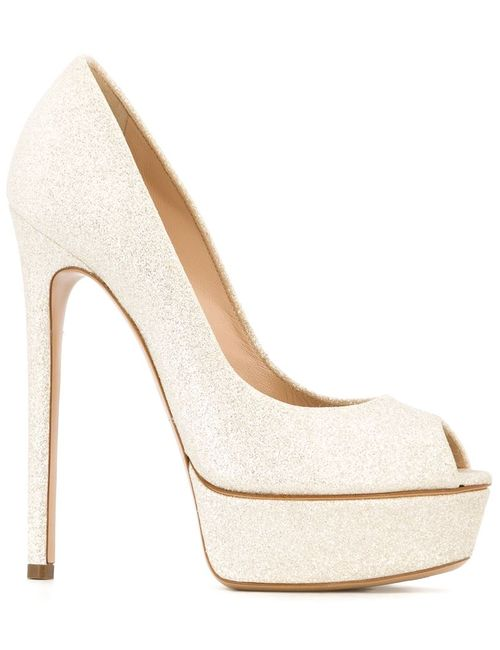 Casadei | Женское Nude & Neutrals Peep Toe Pumps