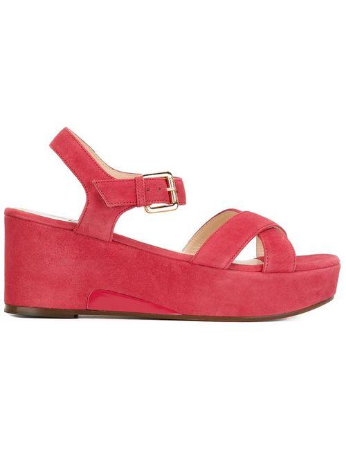 L' Autre Chose   Женское Красный Sling Back Wedge Sandals