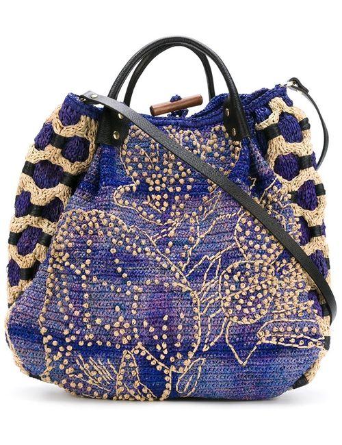 Jamin Puech | Женская Синяя Сумка На Плечо С Цветочной Аппликацией