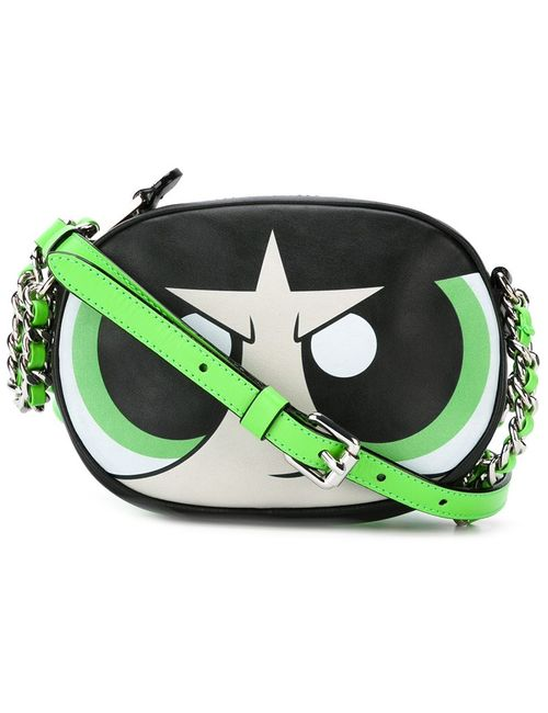 Moschino | Женское Чёрный Powerpuff Girls Buttercup Crossbody Bag