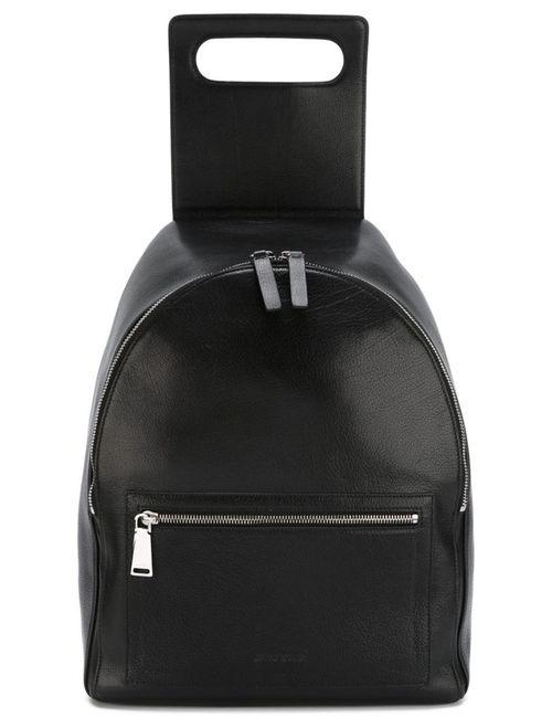 Jil Sander | Мужской Чёрный Рюкзак С Откидным Клапаном