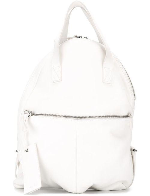 Marsell | Женский Белый Большой Рюкзак С Застежкой-Молнией