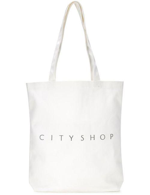 Cityshop | Женская Белая Сумка-Тоут С Логотипом