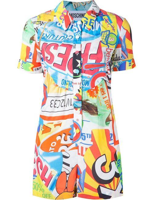 Moschino | Женское Многоцветный Collage Print Playsuit