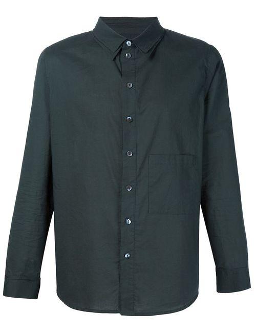 BY WALID | Мужская Чёрная Рубашка С Нагрудным Карманом