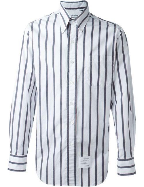 Thom Browne | Мужское Белый Thick Striped Shirt