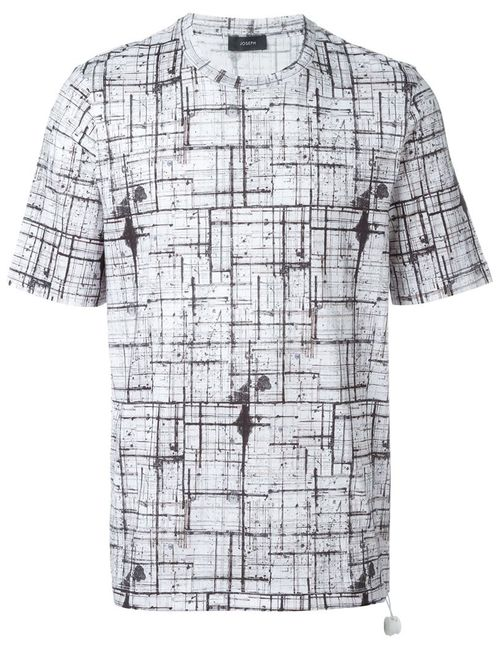 Joseph | Мужское Белый Abstract Check T-Shirt