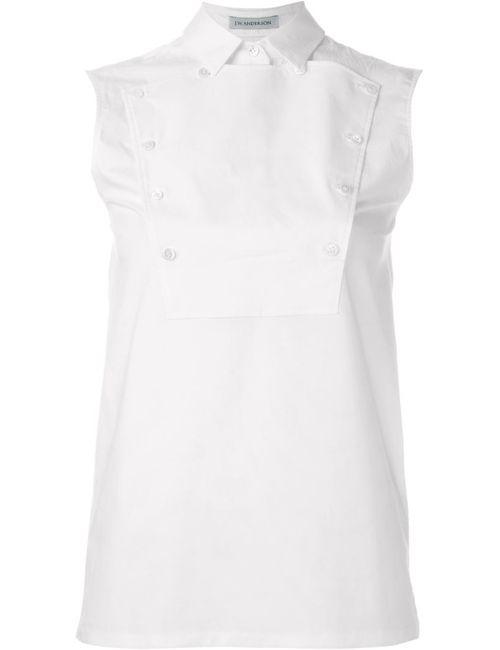 J.W. Anderson | Женская Белая Рубашка С Нагрудником На Пуговицах