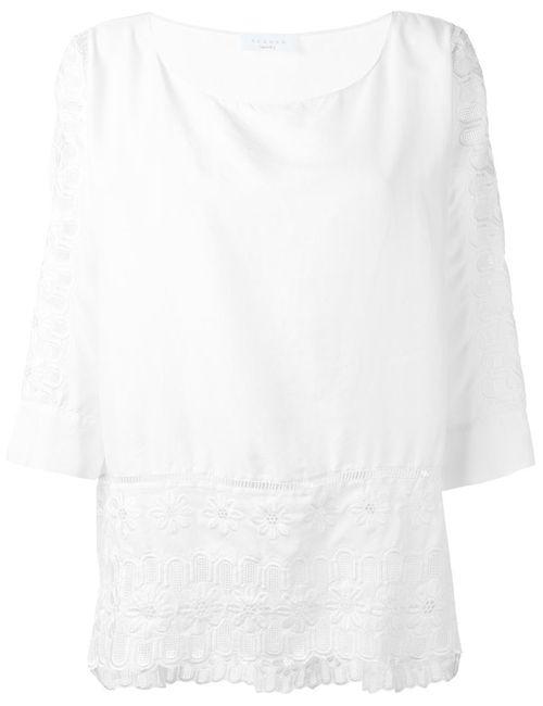 P.A.R.O.S.H.   Женская Белая Блузка С Вышивкой