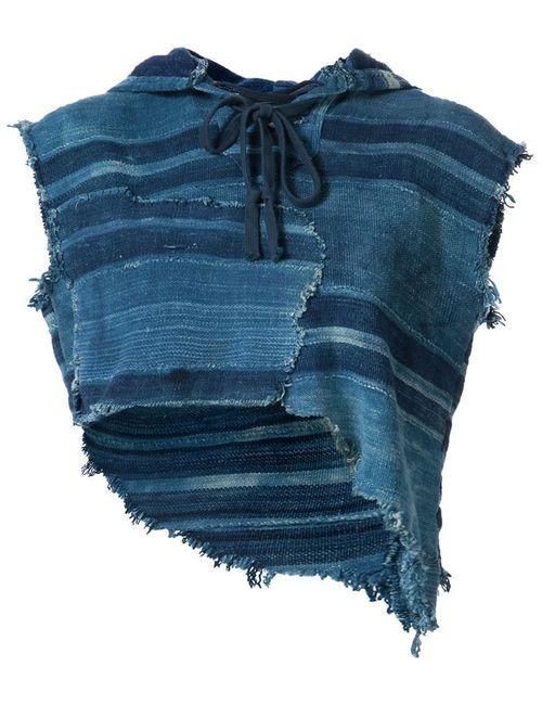 GREG LAUREN | Женская Синяя Блузка Cut Off Parka