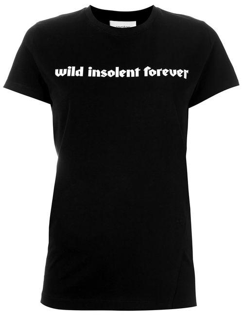 Courreges | Женское Черный Front Print T-Shirt