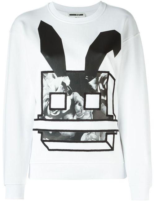 Mcq Alexander Mcqueen | Женская Белая Толстовка Electro Bunny