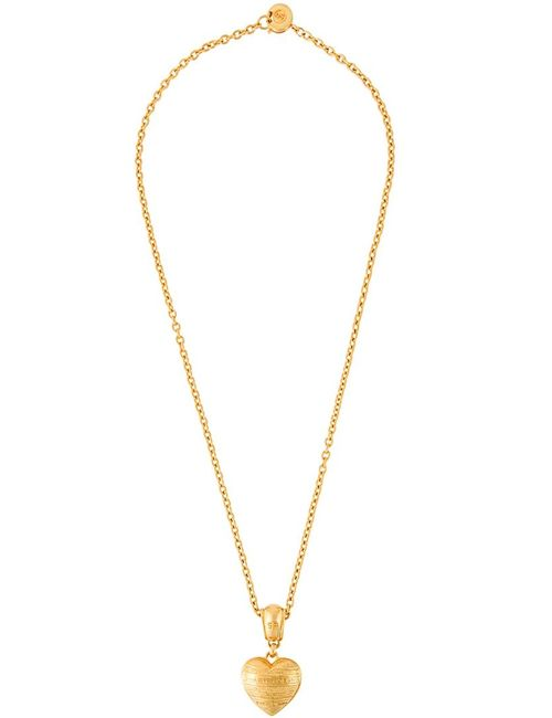 Sonia Rykiel Vintage | Женское Серебристый Logo Heart Pendant Necklace