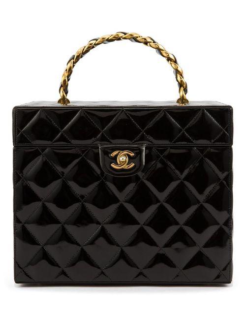 Chanel Vintage | Женский Чёрный Стеганый Чемоданчик Для Косметики