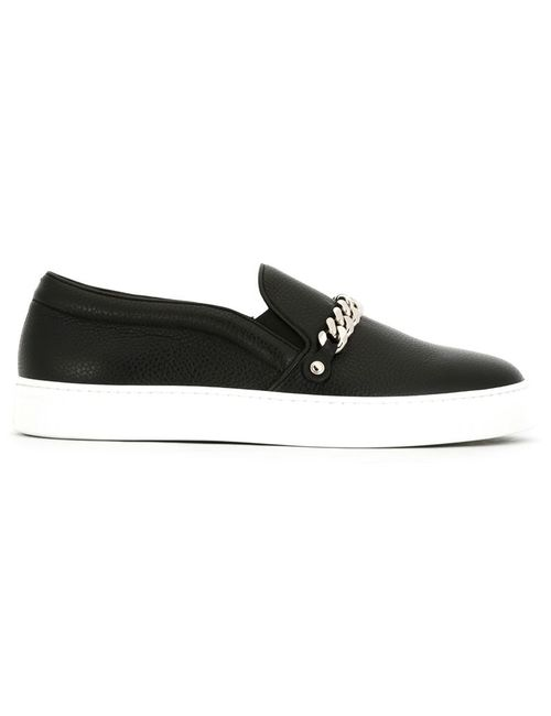 Louis Leeman | Мужское Чёрный Chain Slip-On Sneakers