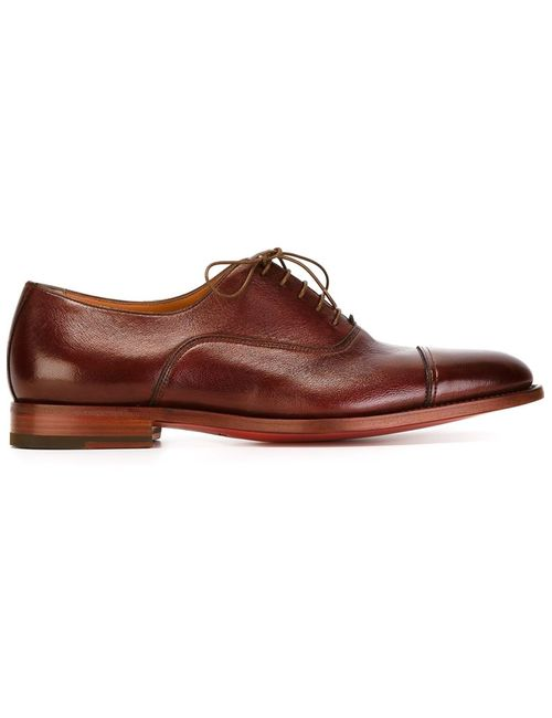 Santoni | Мужское Красный Stacked Heel Oxford Shoes