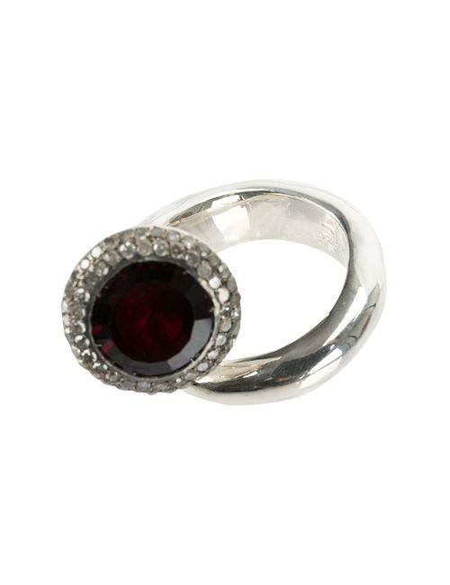ROSA MARIA | Женское Серебристый Garnet Ring