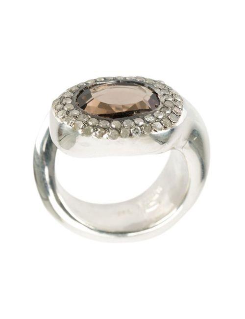 ROSA MARIA | Женское Серебристый Quartz Ring