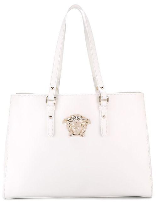 Versace | Женская Белая Сумка На Плечо С Логотипом